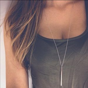 Jewelry - 🌟4/$20🌟 Simple Bar Necklace Gold or Silver